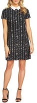 CeCe Women's Floral Collared Shift Dress