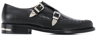 Toga Virilis Woven Trim Monk Shoes