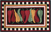 Nourison Hot Peppers Hand-Hooked Rectangular Rug