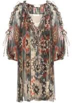 Chloé Printed silk dress