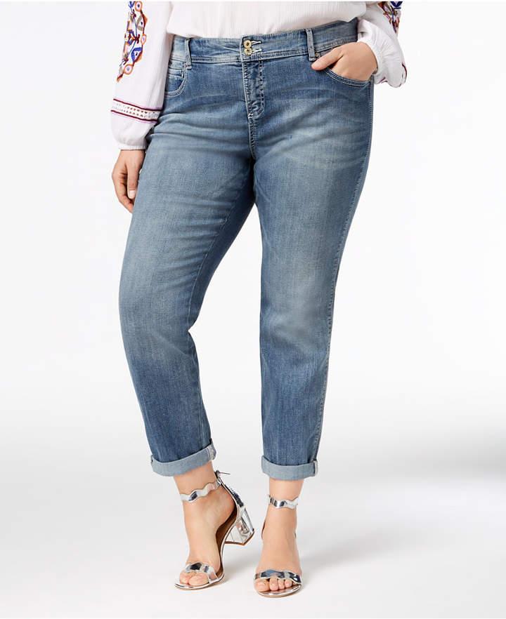 INC International Concepts I.N.C. Plus Size Tummy Control Zenith Boyfriend Jeans