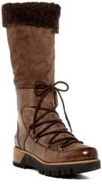 Manas Design Genuine Sheepskin Cuff Tall Platform Boot