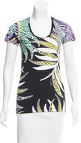Just Cavalli Printed Short Sleeve Top w/ Tags
