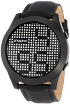 Phosphor Men's MD007G Appear Collection Fashion Crystal Mechanical Digital Watch