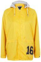 Topshop Slogan hooded windbreaker jacket