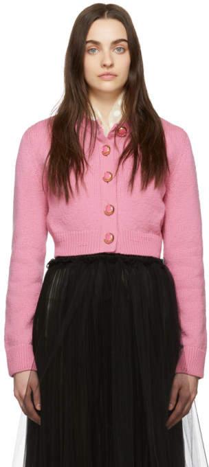 3f0204bb8 Pink Cropped Cardigan - ShopStyle UK