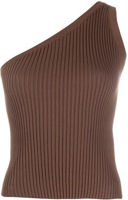 MATÉRIEL One-Shoulder Knit Top