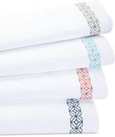 Trina Turk Trellis Block Embroidered Queen Sheet Set