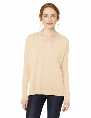 Amazon Brand - Daily Ritual Women's Lightweight V-Neck Pullover Sweater