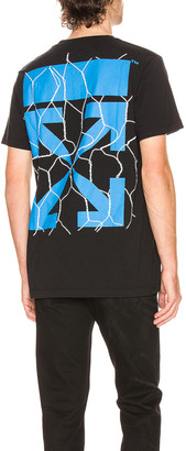 Off-White Fence Arrow Short Sleeve Tee in Black & Blue | FWRD