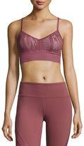 Alo Yoga Aria Lace Sports Bra, Grenache/Buff