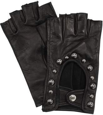 Portolano Mario Studded Fingerless Leather Gloves