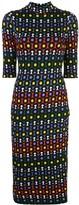 Alice + Olivia Alice+Olivia Delora geometric-print dress