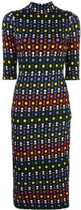 Alice + Olivia Delora geometric-print dress