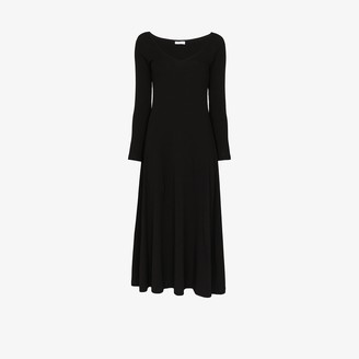 Rosetta Getty V-neck cotton midi dress