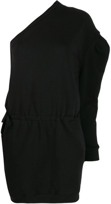 Alexandre Vauthier One-Shoulder Drawstring Dress
