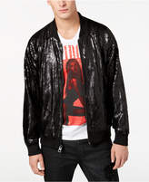 GUESS Men's Bolt Sequin Bomber Jacket