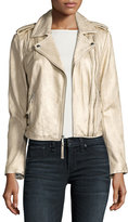 Joie Leolani Metallic Leather Jacket