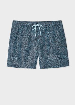 Paul Smith Men's Blue 'Crop Doodle' Print Swim Shorts