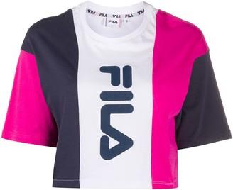 Fila colour-block boxy T-shirt