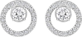 Swarovski Women's Creativity Stud Earrings Set of White Earrings with Rhodium Plating part of the Creativity Collection