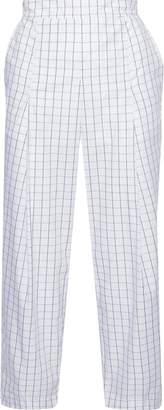 Baum und Pferdgarten Nagihan Cropped Checked Cotton-blend Straight-leg Pants