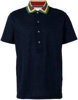 Paul Smith striped collar polo shirt