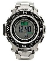 Casio Men's PRO TREK Triple Sensor Titanium Digital Atomic Solar Watch - PRW3500T-7CR