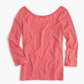 J.Crew Scoopback ballet T-shirt in stripe