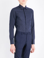 Etro Polka-dot slim-fit cotton shirt