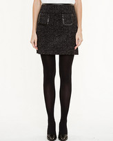 Le Château Tweed A-line Mini Skirt