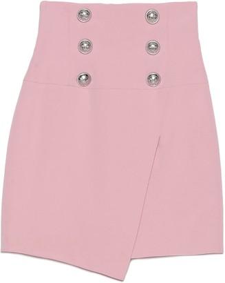 Balmain Buttoned Wrap Skirt