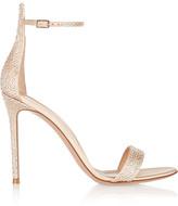 Gianvito Rossi Embellished Satin Sandals - Beige