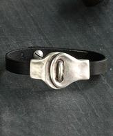 Nautilus Leather & Silvertone Overlapping Bracelet
