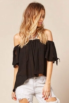 Blue Life Sangria Off Shoulder Top in Black