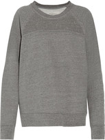 Current/Elliott The Seamed stud-embellished marled cotton-blend sweatshirt