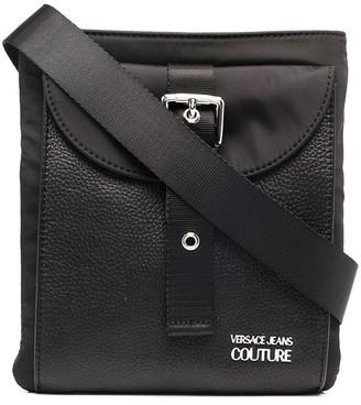 Versace Jeans Couture Buckled Flap Pocket Messenger Bag