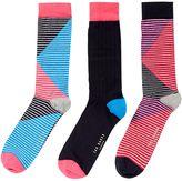 Ted Baker Organic Stripe Sock Multi Pack