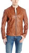 HUGO BOSS BOSS Orange Men's Jips7 Garment Dyed Sheep Leather Jacket