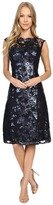 Adrianna Papell Extended Cap Sleeve Fit & Flare Dress