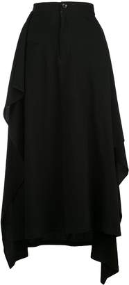 Yohji Yamamoto piped pocket midi skirt