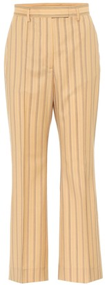 Acne Studios Striped high-rise flared wool pants