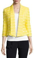 Nipon Boutique Geometric Open-Front Blazer
