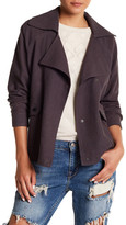Billabong Just Like Me Drape Front Linen Blend Jacket