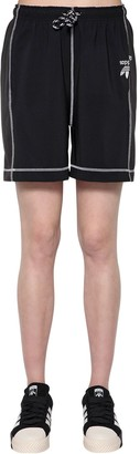 Adidas Originals By Alexander Wang Tech Satin & Cotton Shorts