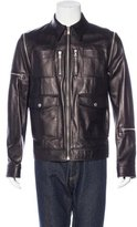 Dolce & Gabbana Convertible Leather Jacket w/ Tags