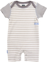Kushies Gray Stripe Romper - Infant
