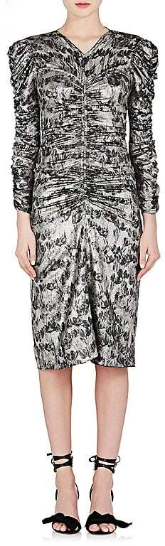 Isabel Marant Women's Damia Silk-Blend Lamé Ruched Dress
