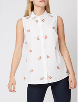 George Embroidered Sleeveless Blouse