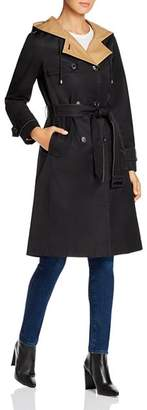 Kate Spade Contrast-Lined Trench Coat